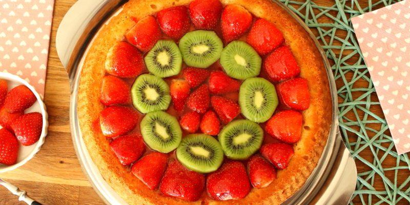 Gleichschwerkuchen mit Fruchtbelag in 30 Minuten