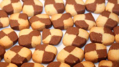 Butterkekse schwarz weiß und lecker