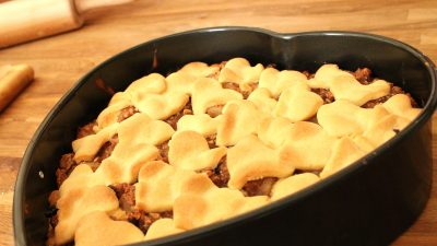 Birnen-Nusskuchen für den Valentinstag