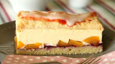 Fruchtige Vanille-Cremeschnitten