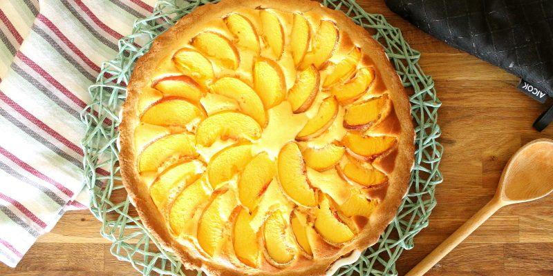 Pfirsich Cheesecake auf Keks
